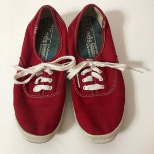 Keds-Red Canvas Keds 7